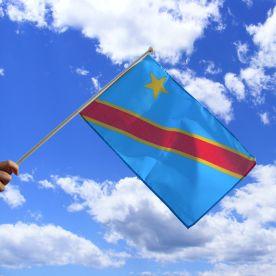Democratic Republic Of Congo Hand Waving Flag