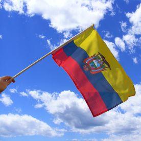 Ecuador Hand Waving Flag