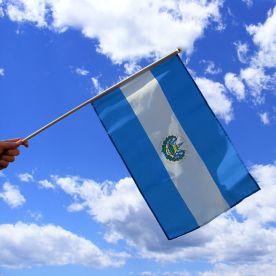 El Salvador Hand Waving Flag