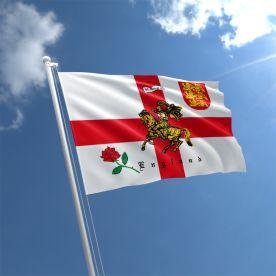 England Charger (Rose/Lion) Flag
