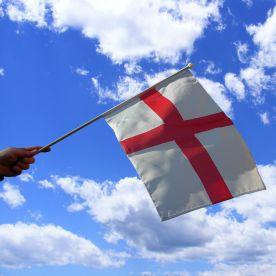 St George Cross Hand Waving Flag