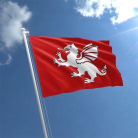 England White Dragon Flag