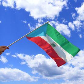 Equatorial Guinea Hand Waving Flag