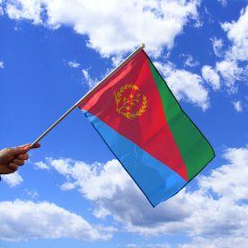 Eritrea Hand Waving Flag