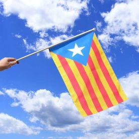 Estelada Catalan Hand Flag