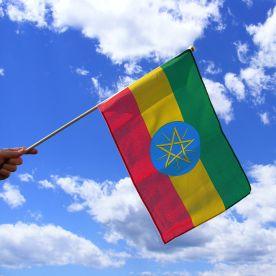 Ethiopia Hand Waving Flag