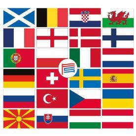 Euro 2020 flag pack 3ft x 2ft