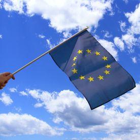 European Union Hand Waving Flag