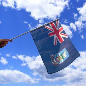 Falkland Islands Hand Waving Flag