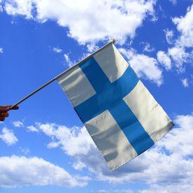 Finland Hand Waving Flag