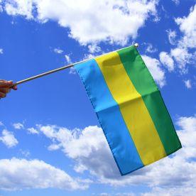 Gabon Hand Waving Flag