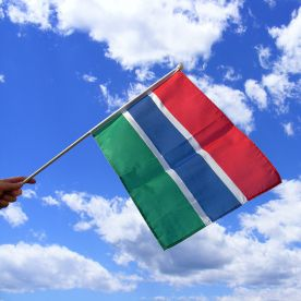 Gambia Hand Waving Flag