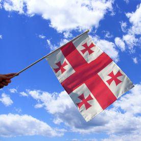 Georgia Hand Waving Flag