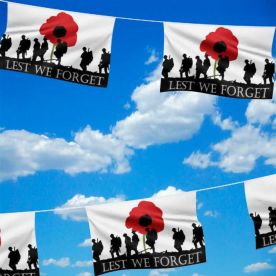 Giant Lest We Forget Bunting