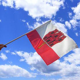 Gibraltar Hand Waving Flag