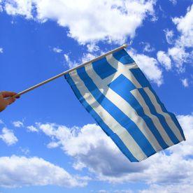 Greece Hand Waving Flag