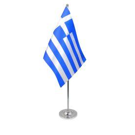Greece table flag satin
