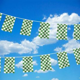 Green & White Chequered Bunting