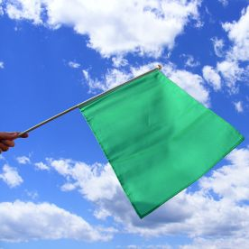 Green Hand Waving Flag