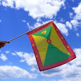 Grenada Hand Waving Flag