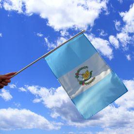Guatemala Hand Waving Flag
