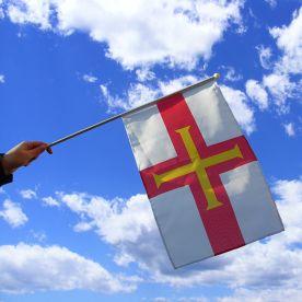 Guernsey Hand Waving Flag
