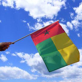 Guinea Bissau Hand Waving Flag