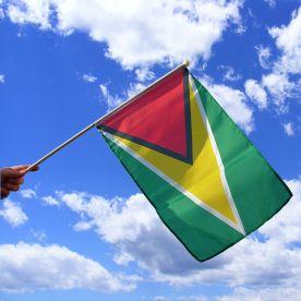 Guyana Hand Waving Flag