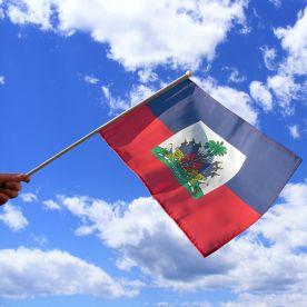 Haiti Hand Waving Flag