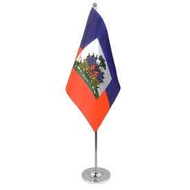Haiti table flag satin