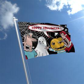Halloween Cartoon Flag