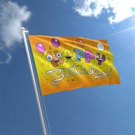 Happy Birthday Smile Flag 5ft x 3ft