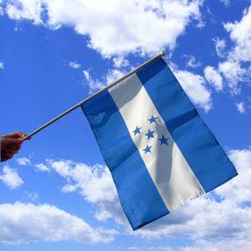 Honduras Hand Waving Flag