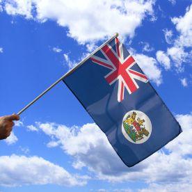 Hong Kong Colonial Hand Waving Flag