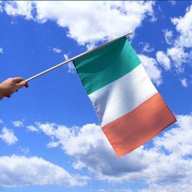 Ireland Tri Colour Hand Waving Flag