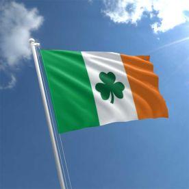 Ireland Shamrock Flag