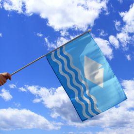 Isle Of Wight Hand Waving Flag