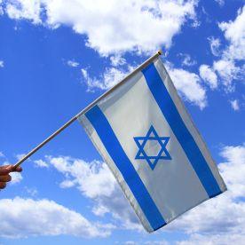 Israel Hand Waving Flag