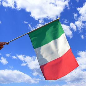 Italy Hand Waving Flag