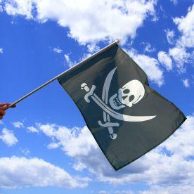 Jack Rackham Pirate Hand Waving Flag