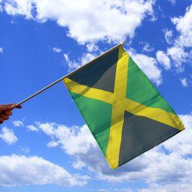 Jamaica Hand Waving Flag