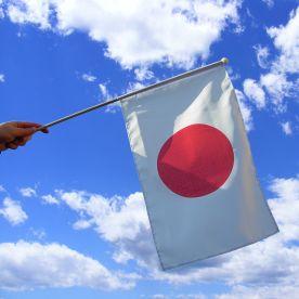Japan Hand Waving Flag