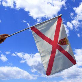 Jersey Hand Waving Flag