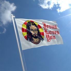 Jesus Loves You Flag