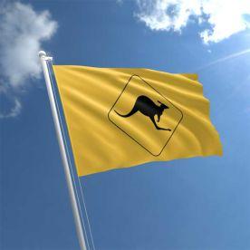 Kangaroo Road Sign Flag
