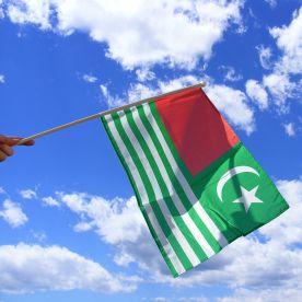 Kashmir Hand Waving Flag