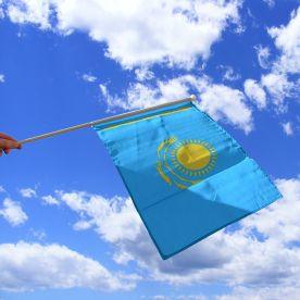 Kazakhstan Hand Waving Flag