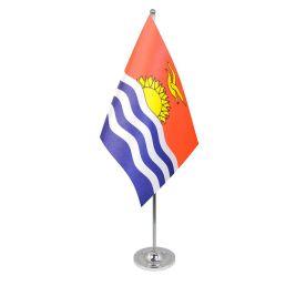 Kiribati table flag satin