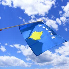 Kosovo Hand Waving Flag