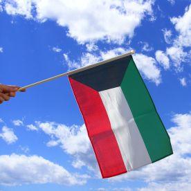 Kuwait Hand Waving Flag